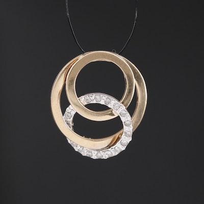 14K Diamond Interlocking Circles Pendant
