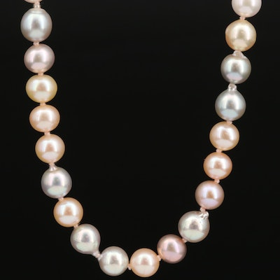 Robin Rotenier Pearl Necklace with 18K Clasp