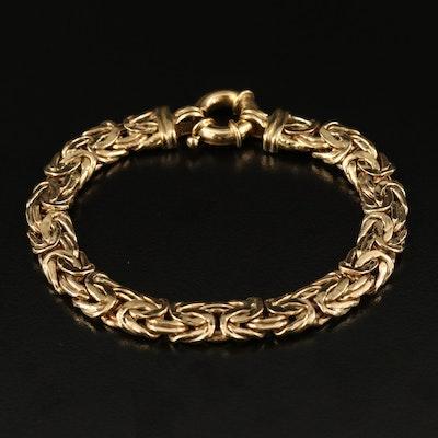 18K Flat Byzantine Link Bracelet