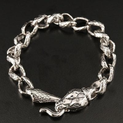 Sterling Snake Bracelet