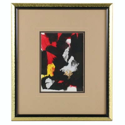 "Hal Stevens Mixed Media Painting ""Barcelona"""