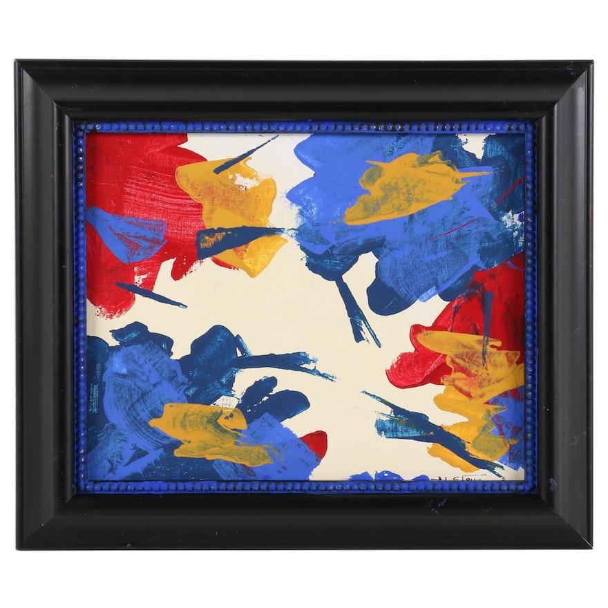 "Hal Stevens Acrylic Painting ""Tango"""