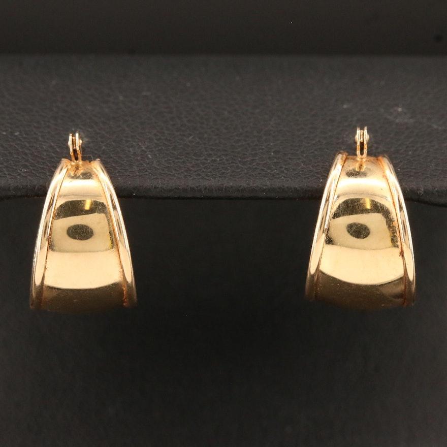 14K Tapered Small Hoop Earrings