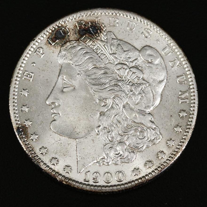 Error Coin 1900-O/CC Morgan Silver Dollar