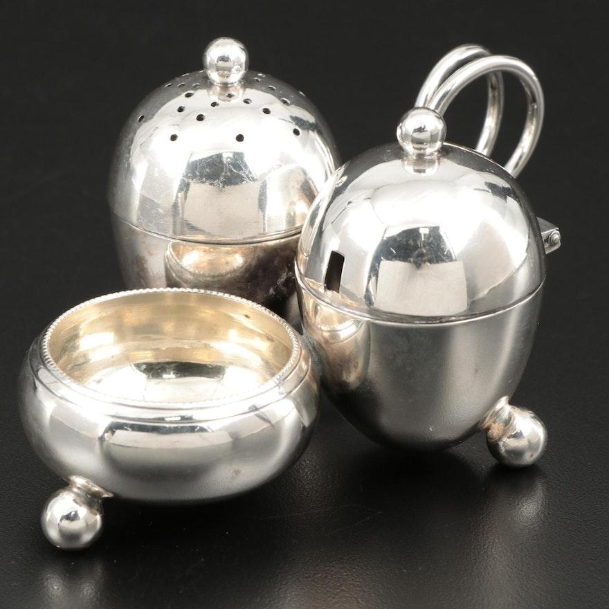 Thomas Bradbury & Sons Silver Plate Condiment Caddy