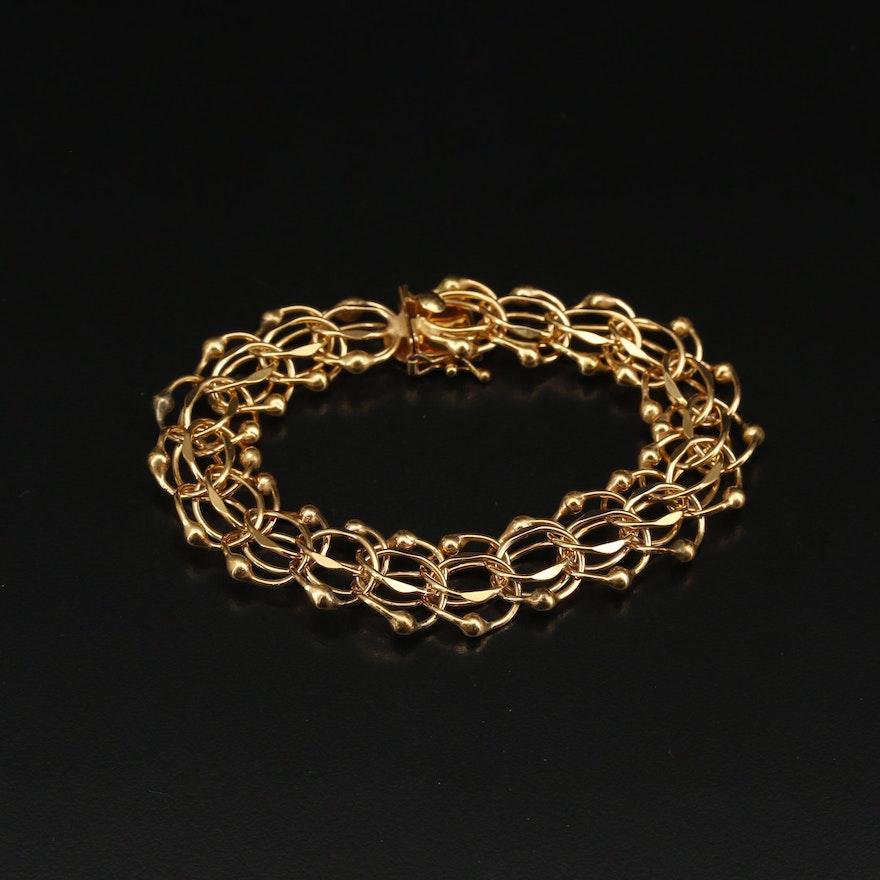Gold Filled Double Infinity Bracelet