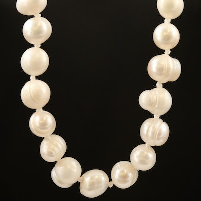 Endless Hand Knotted Strand of Pearls