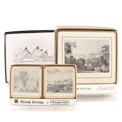 "Pimpernel ""The Opera House"" Place Mats with ""British Heritage"" Coasters and More"