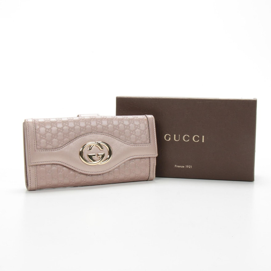 Gucci GG Microguccissima Metallic Leather Wallet