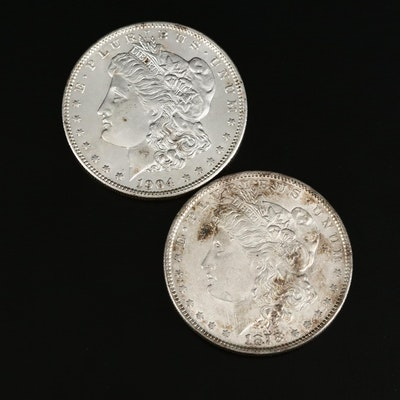 1878 and 1904-O Morgan Silver Dollars