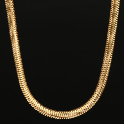 14K Flat Snake Chain Necklace