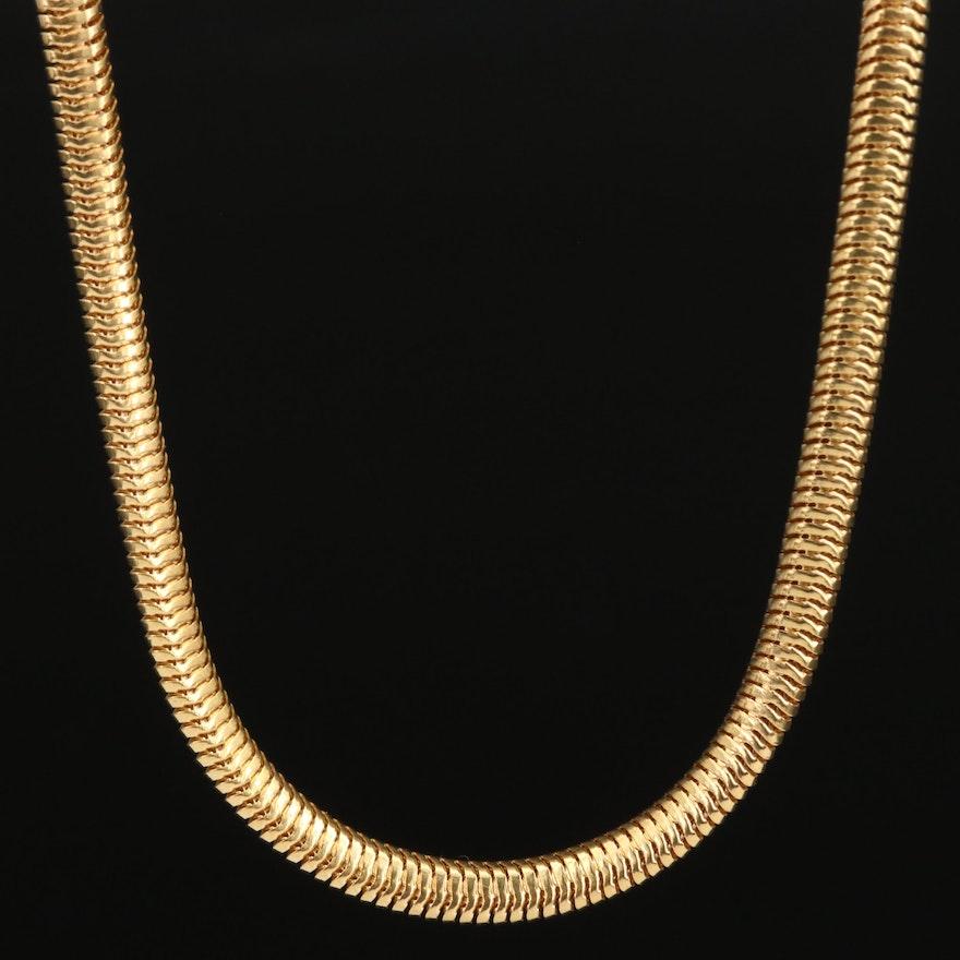 14K Flat Snake Chain Necklace