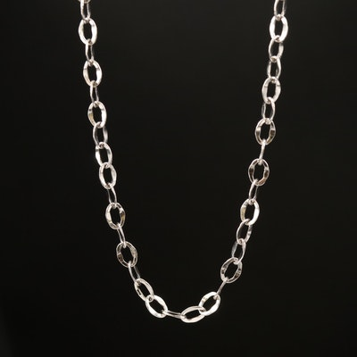 18K Flat Cable Chain Necklace