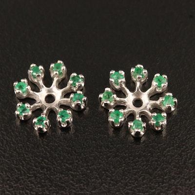 14K Emerald Earring Enhancer Jackets