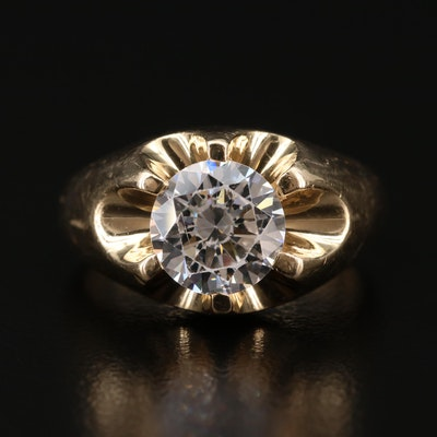 14K Gold Cubic Zirconia Ring