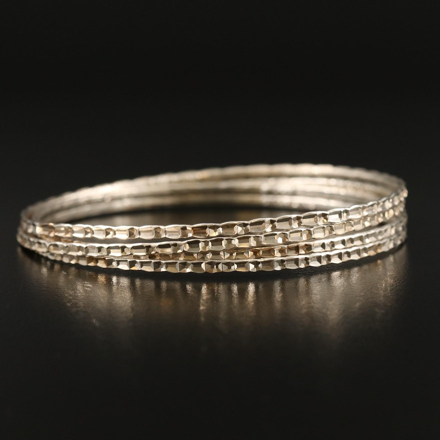 Sterling Silver Patterned Bangles