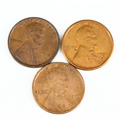 Key Date 1909-S, 1918 and 1921-S Lincoln Wheat Cents