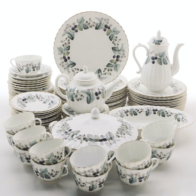 "Royal Worcester ""Lavinia"" Cream China Dinnerware, Mid to Late 20th Century"