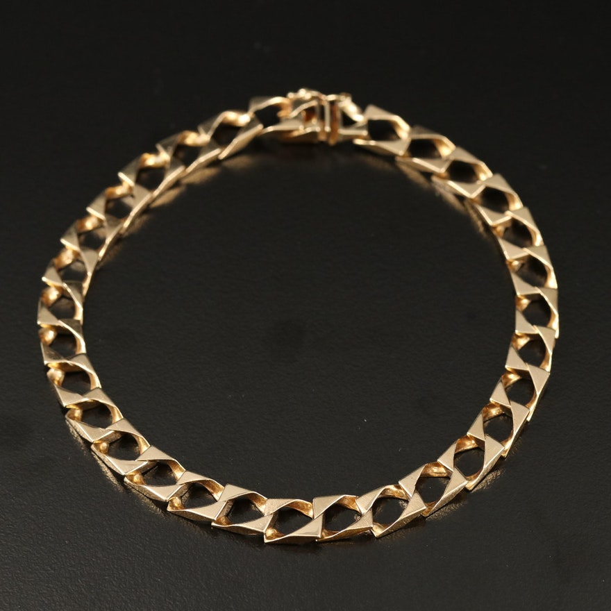 14K Fancy Link Chain Bracelet
