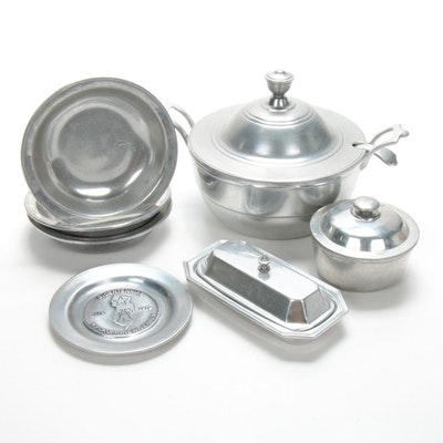 Wilton Pewter Tureen, Bowls, and Other Serveware