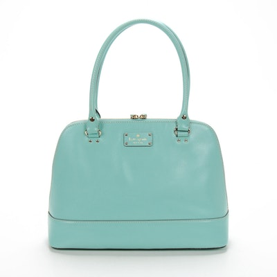 Kate Spade Mint Green Leather Wellesley Rachelle Shoulder Bag