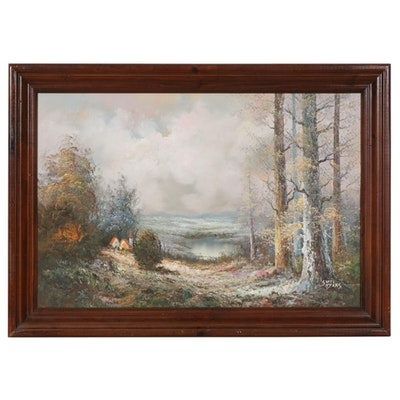 Scott Myers Mythical Landscape Oil Painting