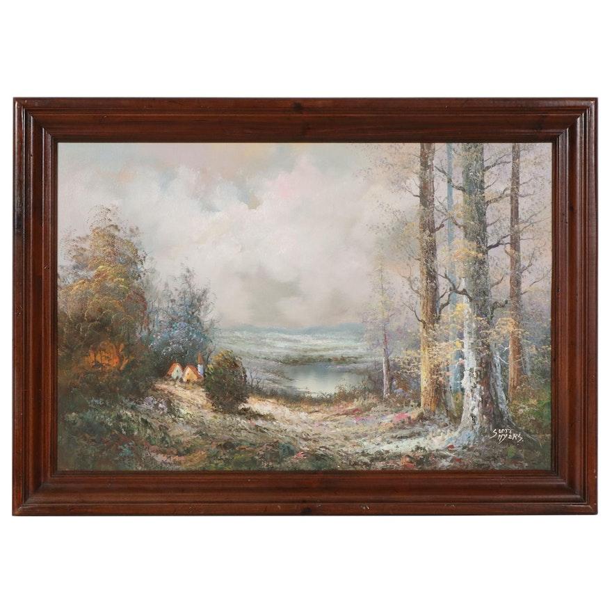 Scott Myers Mythical Landscape Oil Painting