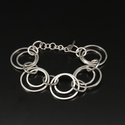 Sterling Silver Double Circular Link Bracelet