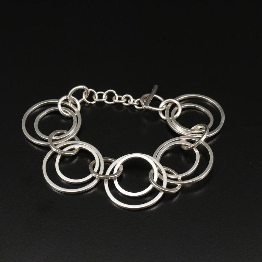 Sterling Silver Double Circular Link Bracelet