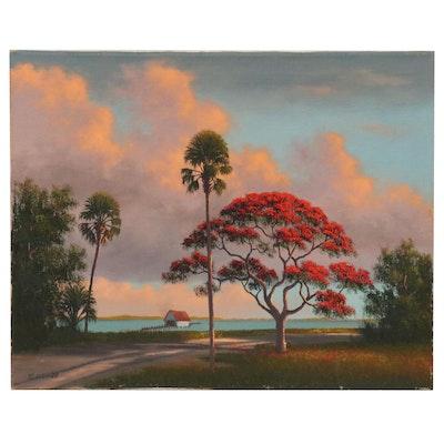George Buckner Floridian Coastal Landscape Oil Painting