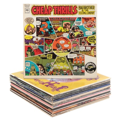 Vinyl LP Records, Jimi Hendrix, Queen, Rolling Stones, Bob Dylan, More