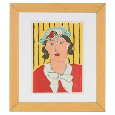 """Henri Matisse Color Lithograph from Verve """"Femme au Chapeau"""", 1939"""