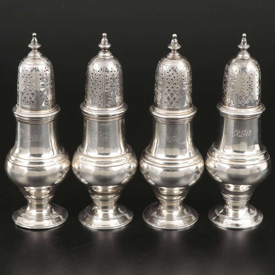 Crichton & Co. Sterling Silver Shakers, Early to Mid 20th Century