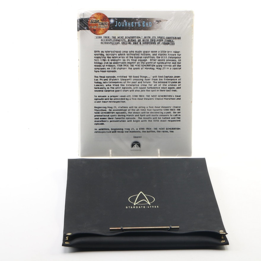 Star Trek: The Next Generation Press Kit Commemorating the Entire Series