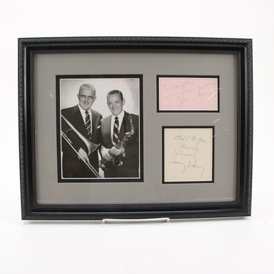 Tommy and Jimmy Dorsey Signed American Band Leaders Framed Display, COA