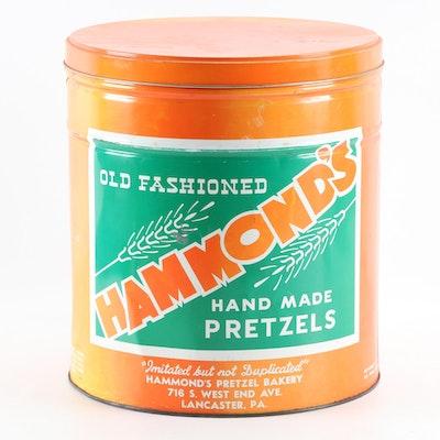 Hammond's Old Fashioned Hand Made Pretzel Tins, Mid-20th Century