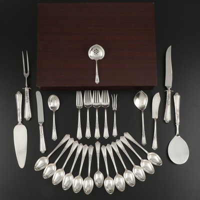 "Towle ""D'Orleans"" Sterling Silver Flatware and Serving Utensils"
