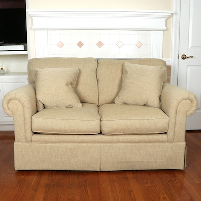Sherrill The Plaza Collection Woven Upholstered Loveseat
