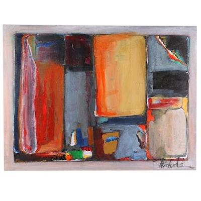 Abstract Geometric Acrylic Painting