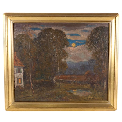 C. Harry Allis Impressionist Style Landscape Oil Painting