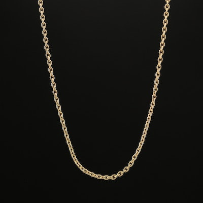 14K Rolo Link Chain