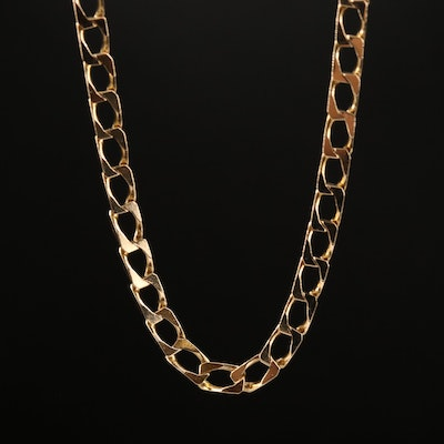 UnoAErre 14K Curb Chain Necklace