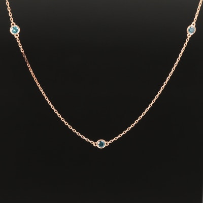 18K Diamond Station Necklace