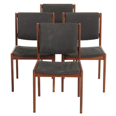 Four Mid Century Modern Teak Side Chairs