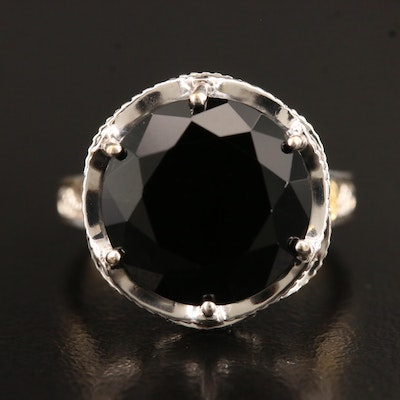 Tacori Sterling Black Onyx Ring with 18K Accent