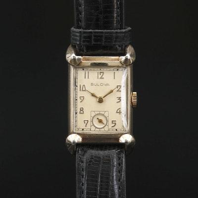 "1948 Bulova Excellency ""NN"" 10K Gold Filled Stem Wind Wristwatch"