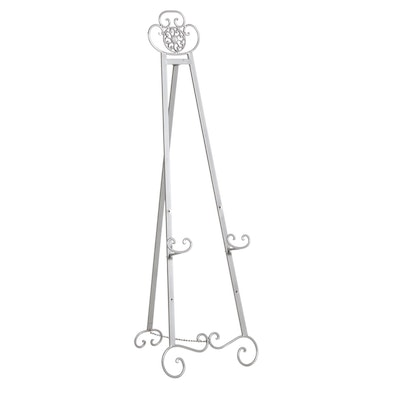 Silver Tone Painted Metal Standing Picture Easel, 21st Century