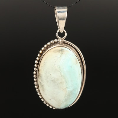 Sterling Faux Turquoise Pendant