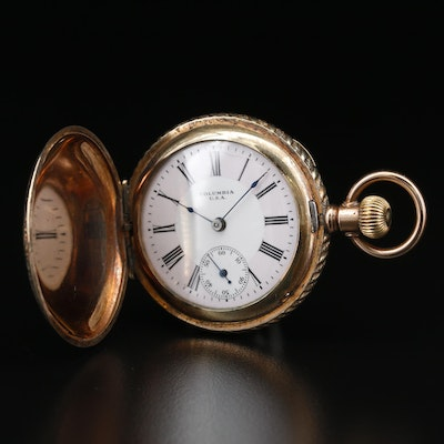 Antique Columbia Gold Filled Hunting Case Pocket Watch, Circa 1897