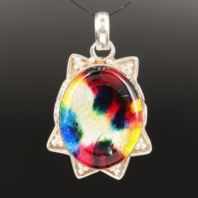 Sterling Silver Art Glass Pendant